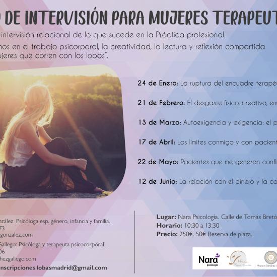 Grupo de Intervisión para Mujeres Terapeutas